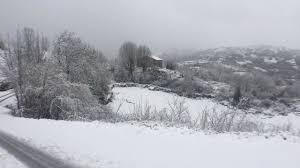 Aviso de nevadas para mañana 27 de febrero